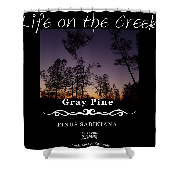 Gray Pine Shower Curtain
