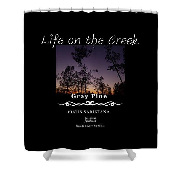 Gray Pine Shower Curtain