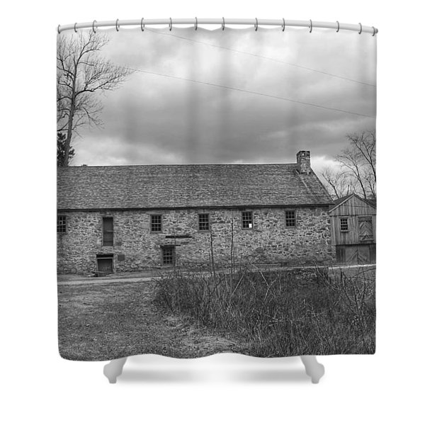 Grey Skies Over Fieldstone - Waterloo Village Shower Curtain