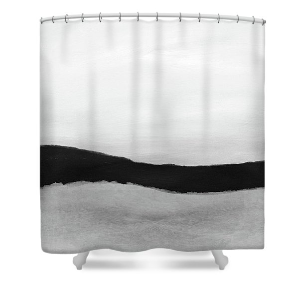 Grayscale 4- Abstract Art By Linda Woods Shower Curtain