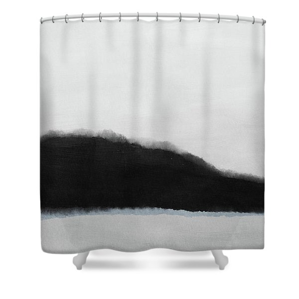 Grayscale 5- Abstract Art By Linda Woods Shower Curtain