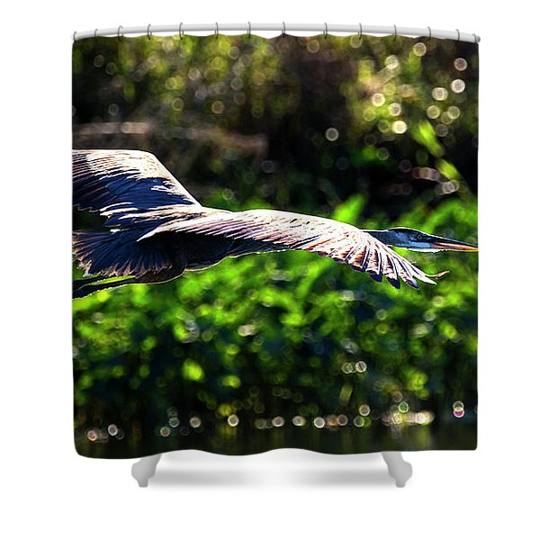 Great Blue Escape  Shower Curtain