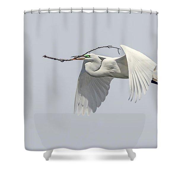 Great Egret 1 Shower Curtain