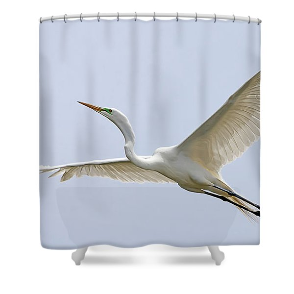 Great Egret 2 Shower Curtain