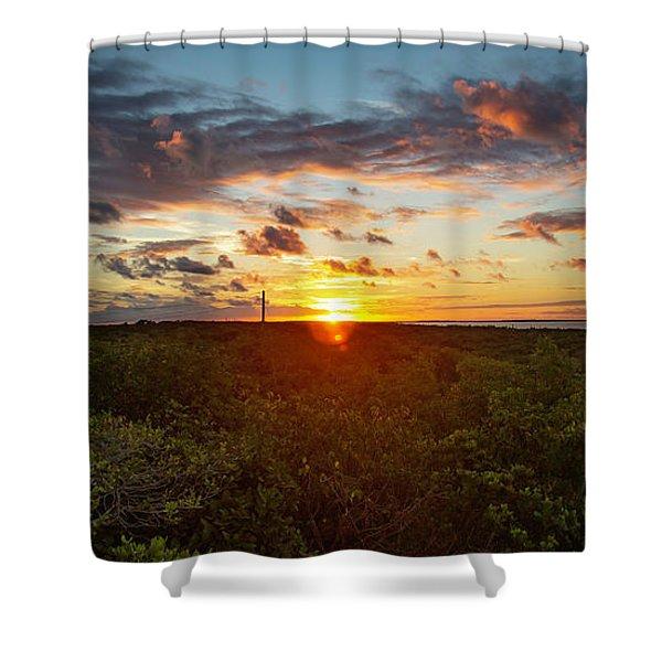 Great Exuma Sunrise Shower Curtain
