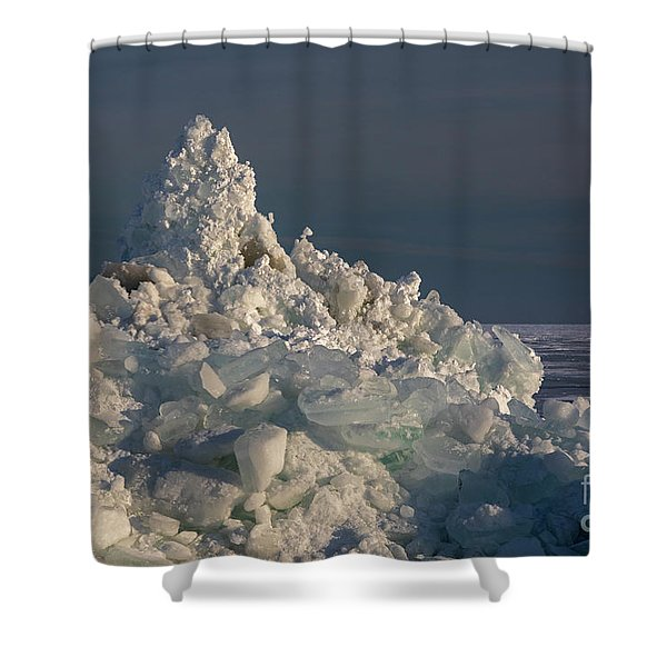 Great Lakes Ice Shower Curtain
