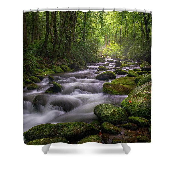 Great Smoky Mountains Gatlinburg Tennessee Shower Curtain