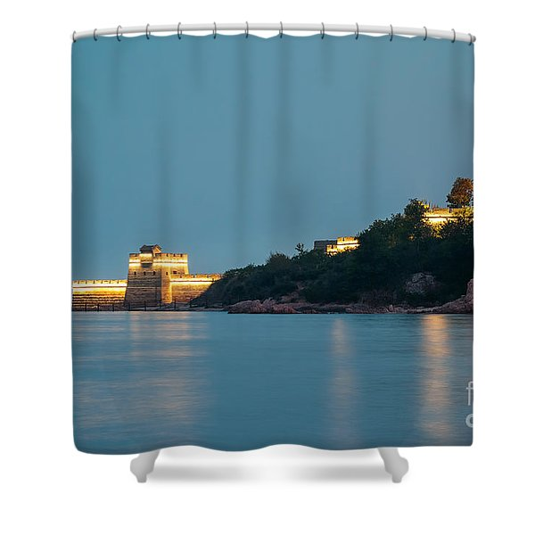 Great Wall At Night Shower Curtain