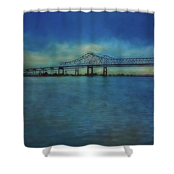 Greater New Orleans Bridge Shower Curtain