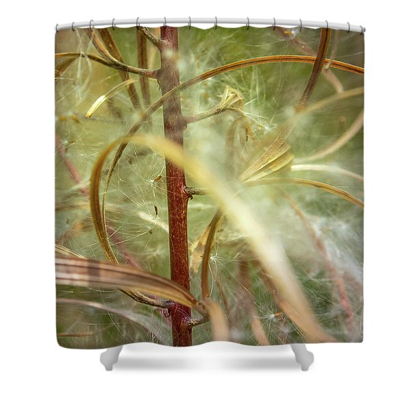 Shower Curtain featuring the photograph Green Abstract Series No.11 by Juan Contreras