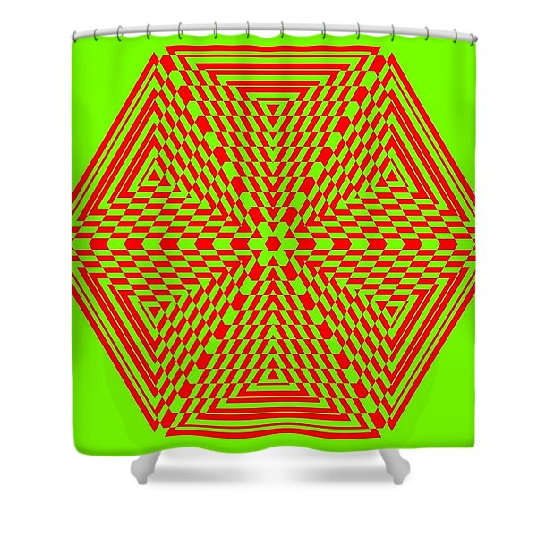 Green And Red Fusion  Shower Curtain