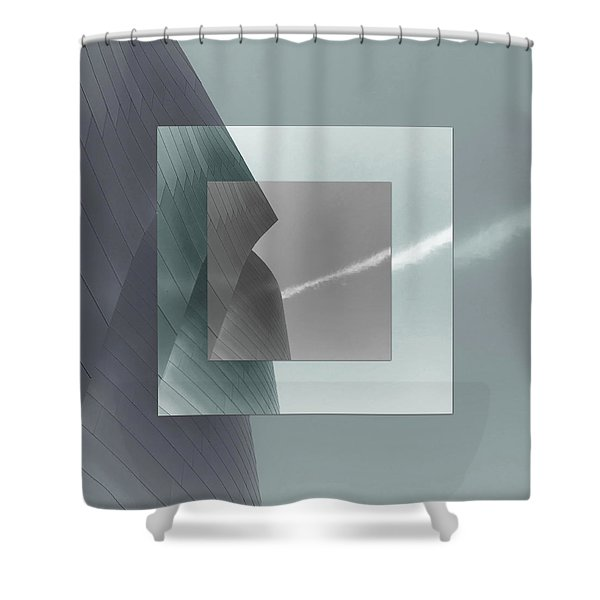 Green Gehry Shower Curtain