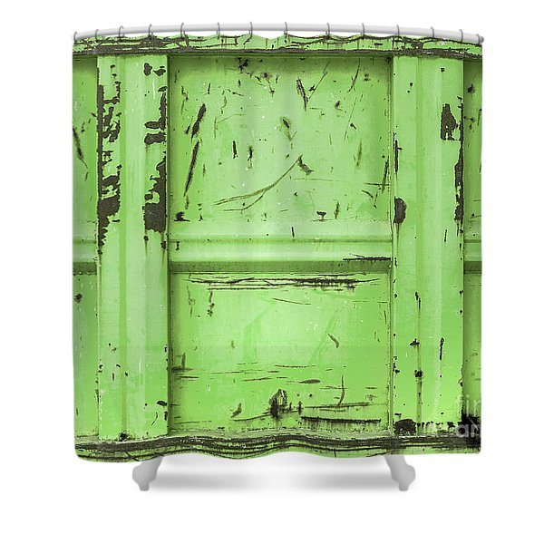 Green Rubble Container Shower Curtain