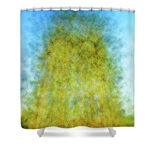 Green Towers Shower Curtain