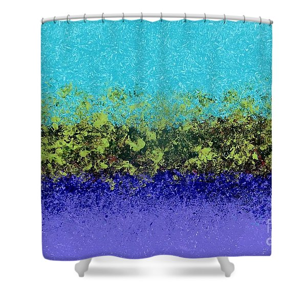 Greenery With Purple Shower Curtain