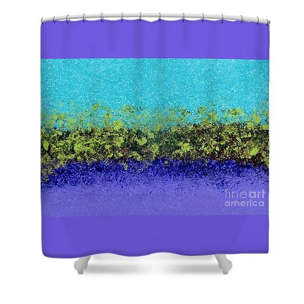 Greenery With Purple Shower Curtain