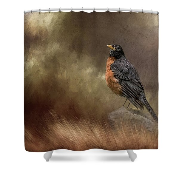 Greeting Autumn Shower Curtain