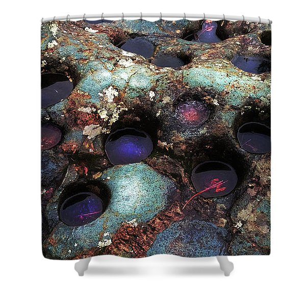 Grinding Rock Shower Curtain