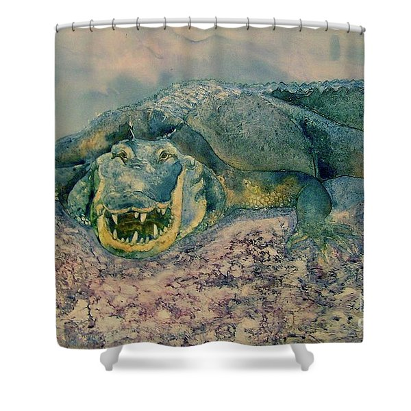Grinning Gator Shower Curtain