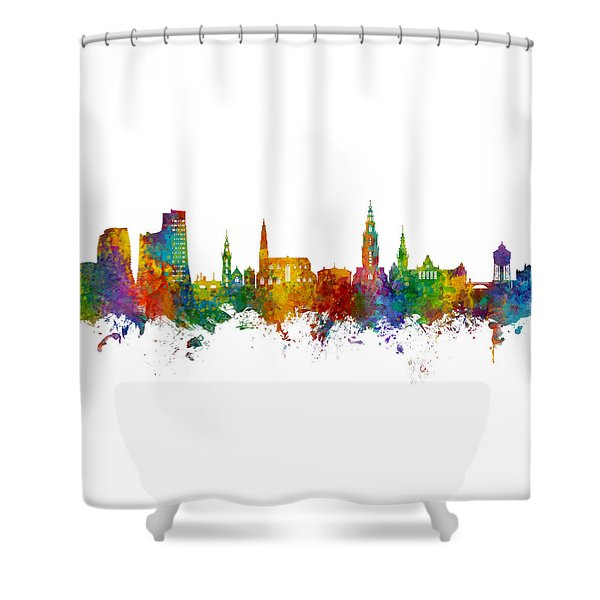 Groningen The Netherlands Skyline Shower Curtain
