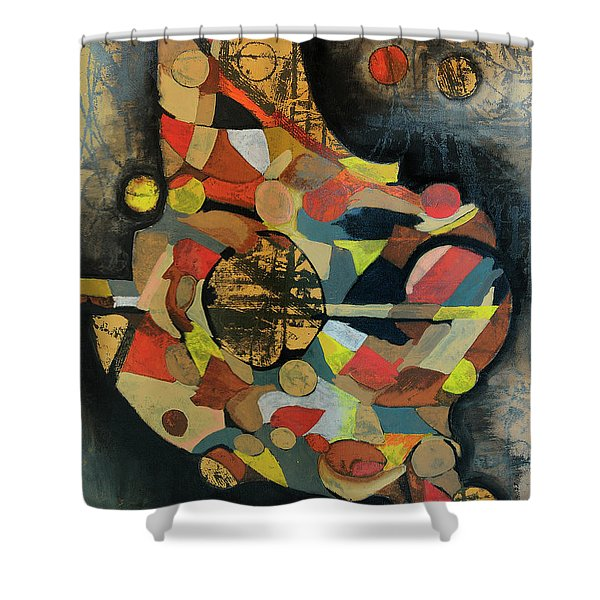 Grounded In Art Shower Curtain