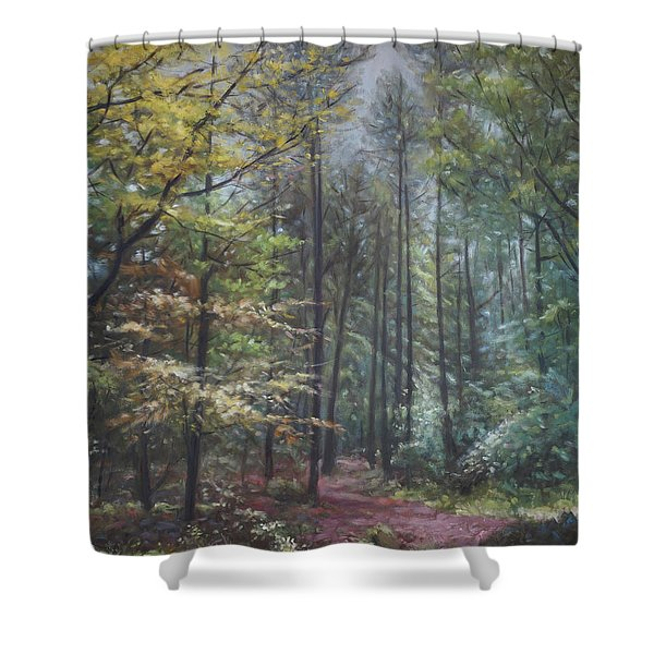 Group Of Trees In The New Forest. Shower Curtain