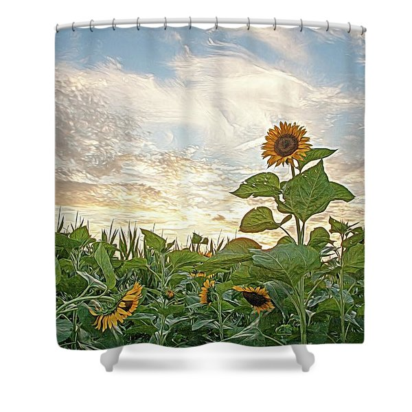 Growing Tall Shower Curtain