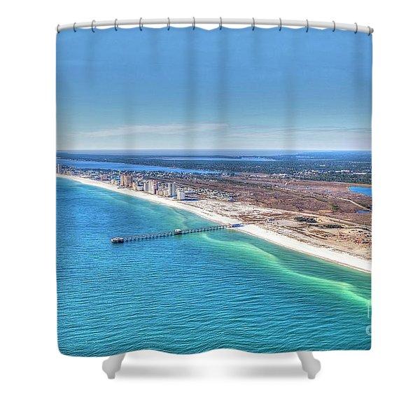 Gsp Pier And Beach Shower Curtain