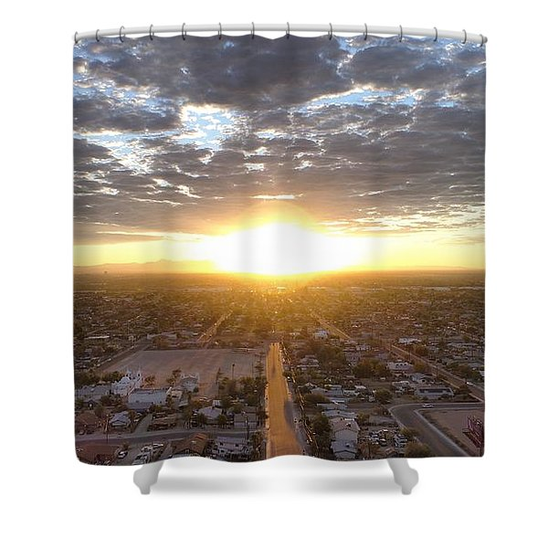 Guadalupe Sunset Shower Curtain