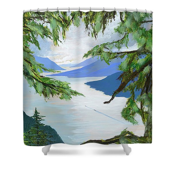Guided Through The Fjords Shower Curtain