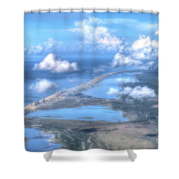Gulf Shores-5094-tm Shower Curtain