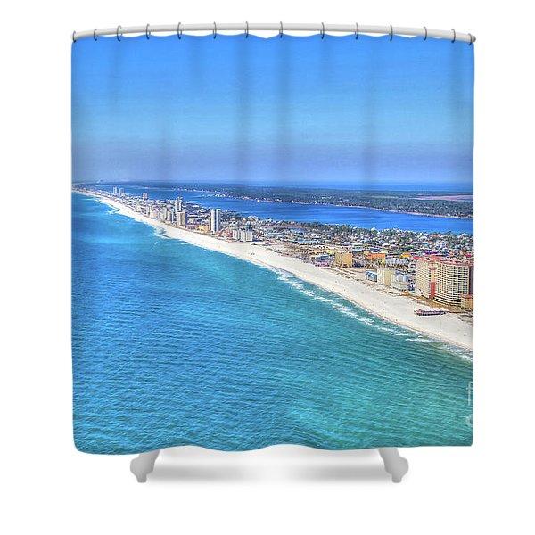 Gulf Shores Beaches 1335 Tonemapped Shower Curtain