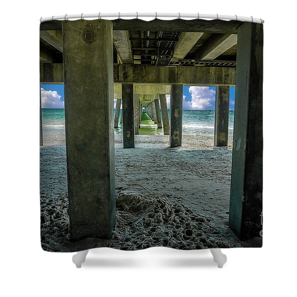 Gulf Shores Park And Pier Al 1649b Shower Curtain