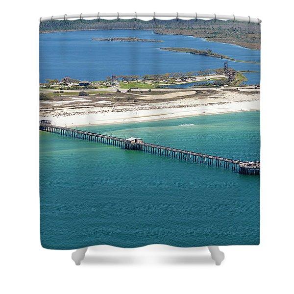 Gulf State Park Pier 7464n Shower Curtain