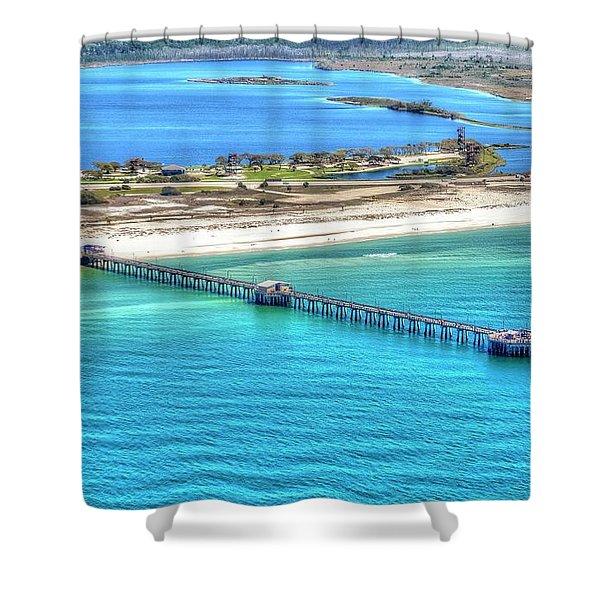 Gulf State Park Pier 7464p3 Shower Curtain