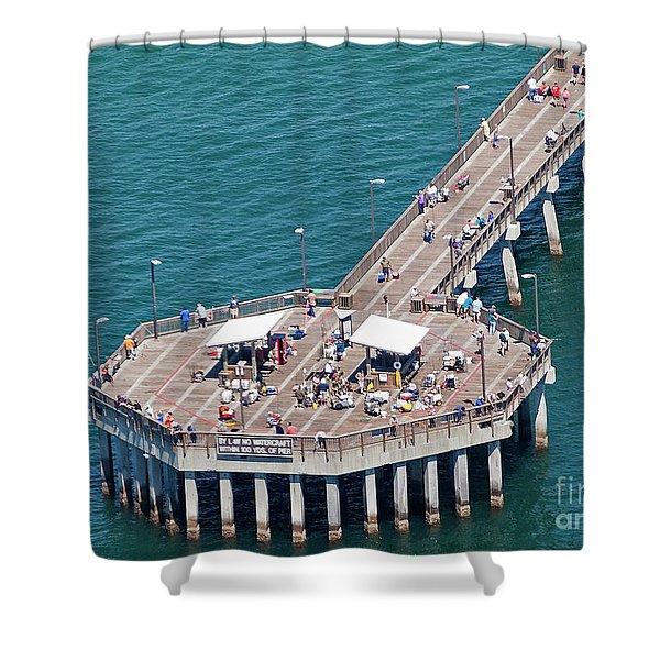 Gulf State Park Pier 7467 Shower Curtain
