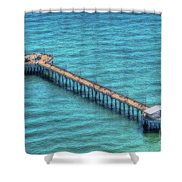 Gulf State Park Pier Shower Curtain