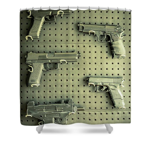 Gun Collection 2 Shower Curtain