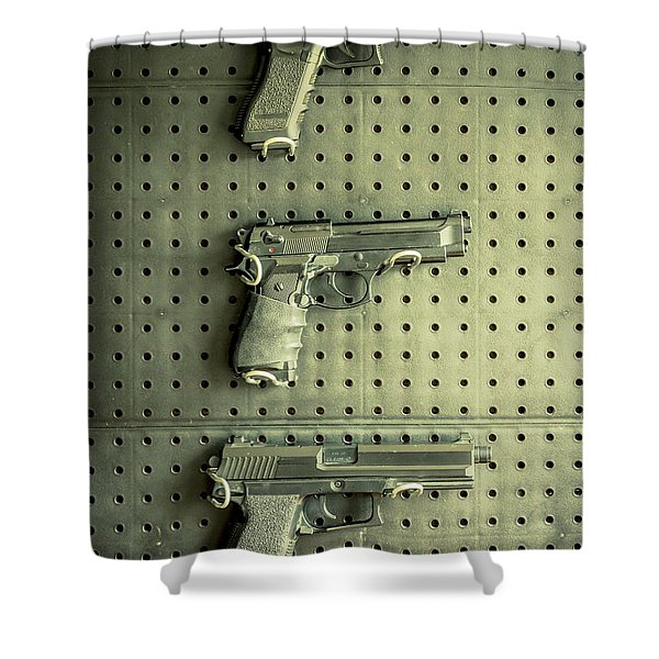 Gun Collection Shower Curtain