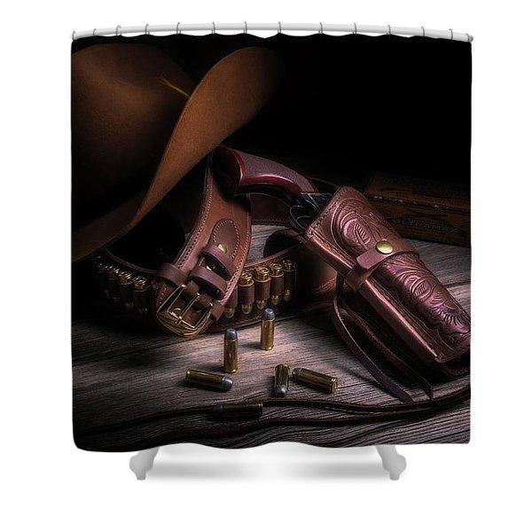 Gunslinger Shower Curtain