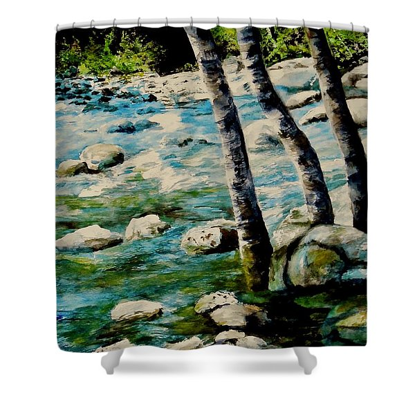 Gushing Waters Shower Curtain