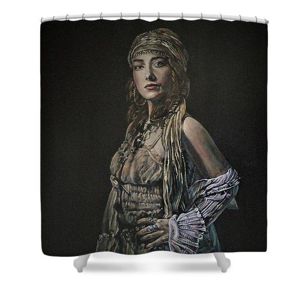 Gypsy Portrait Shower Curtain