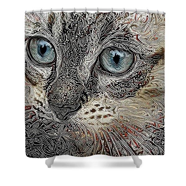 Gypsy The Siamese Kitten Shower Curtain