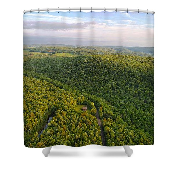 H I L L S Shower Curtain