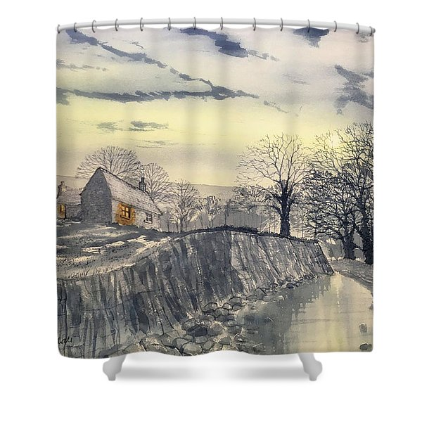 Hag Dyke By Moonlight Shower Curtain