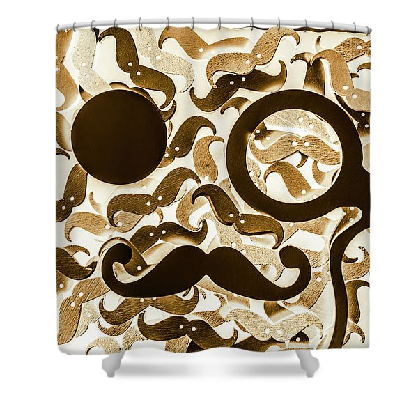 Hairy Hipster Shower Curtain