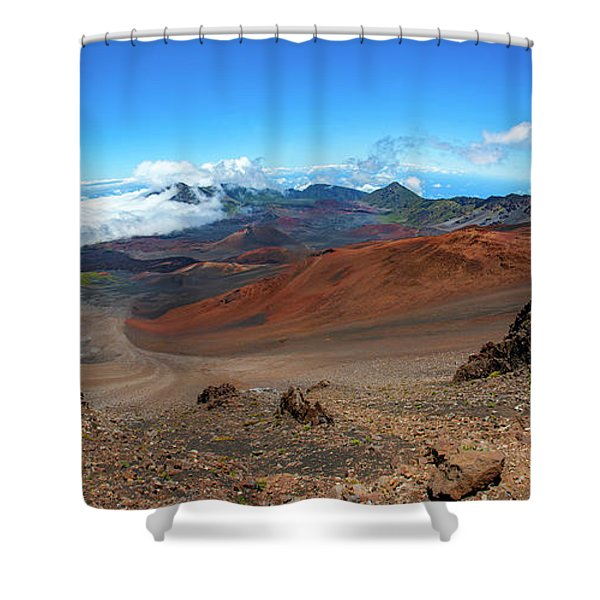 Haleakala Crater Panoramic Shower Curtain