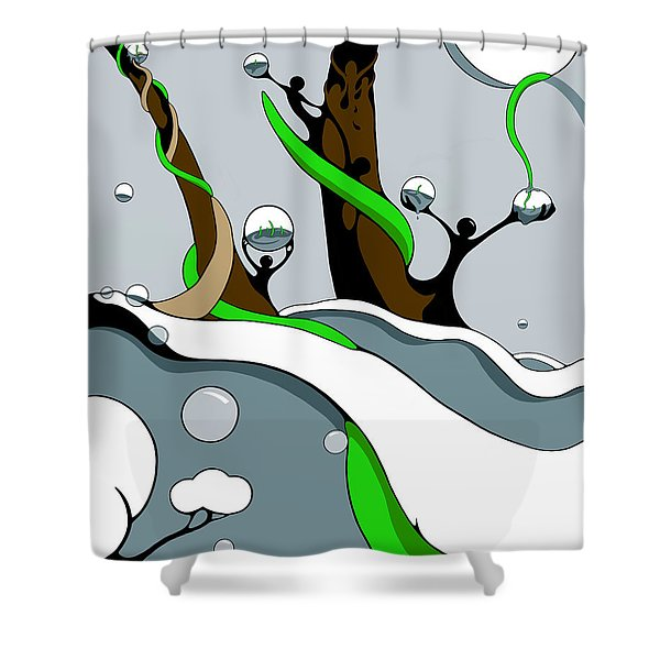 Half Full Shower Curtain