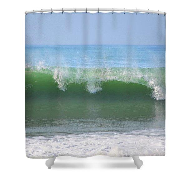 Half Monn Breaker Shower Curtain