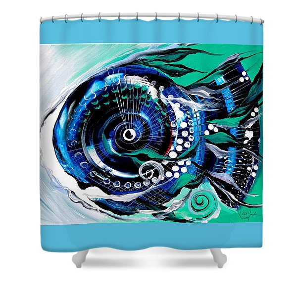 Half-smile, Break The Ice Fish Shower Curtain